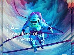 太空合成海报