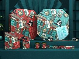 小龙坎火锅 小龙坎火锅礼盒包装设计 火锅品牌包装设计
