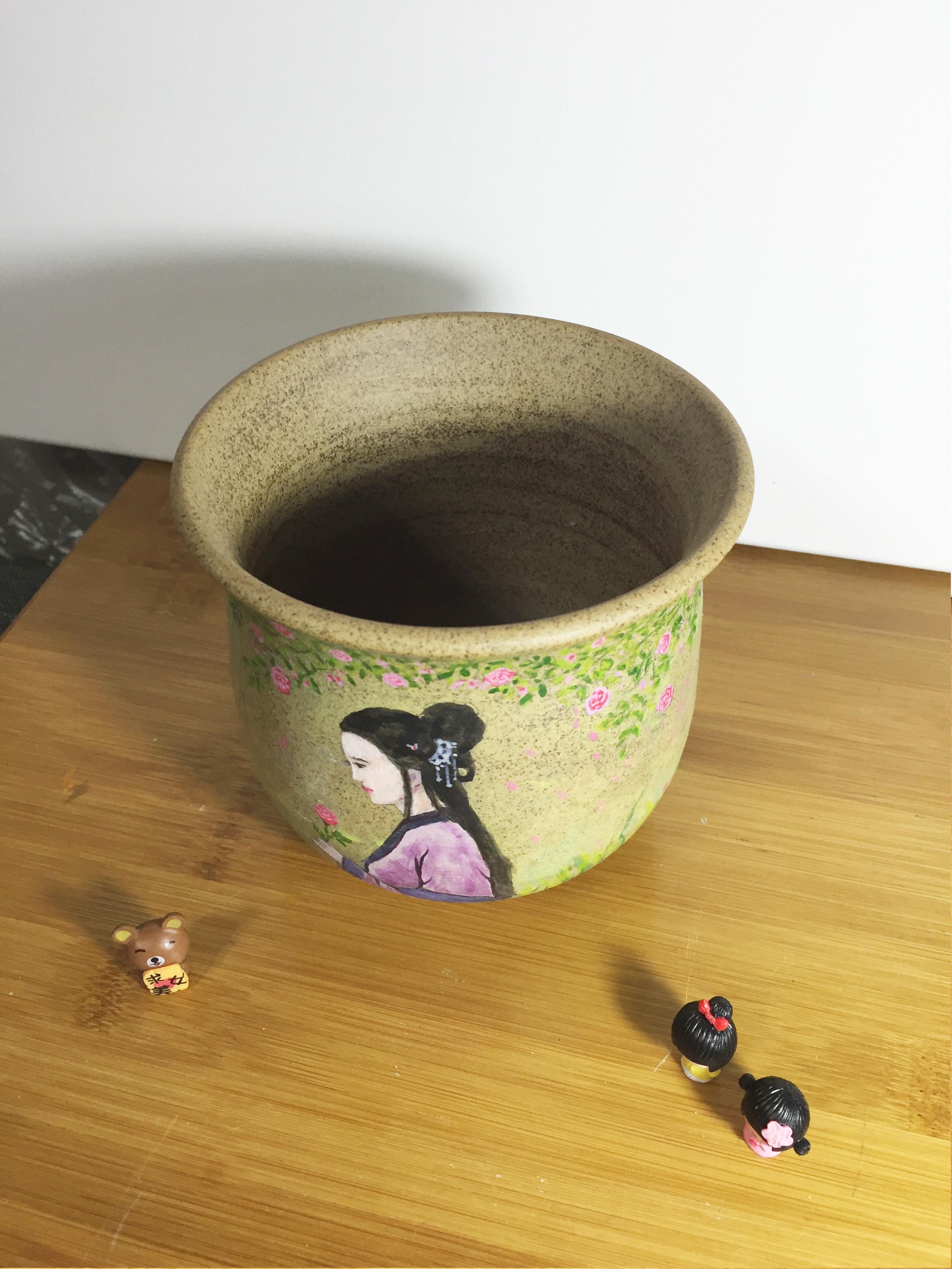 丙烯手绘花器