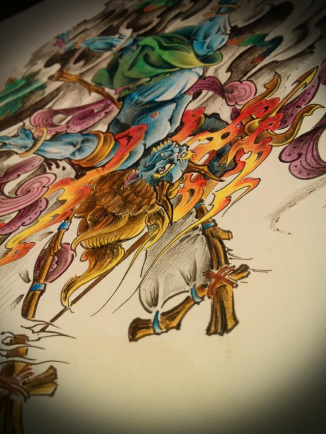纹身手稿——夜叉鬼