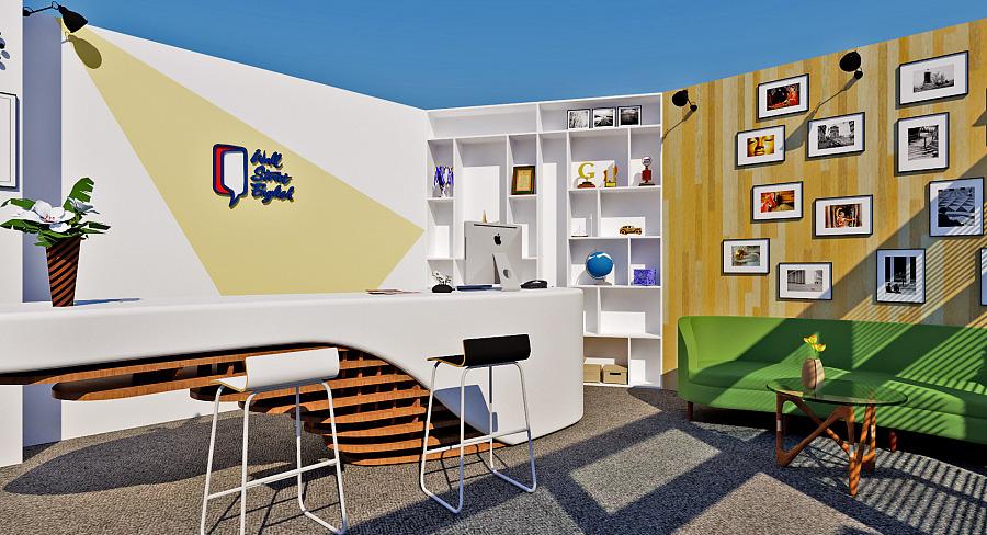 语言培训机构前台|室内设计|空间\/建筑|旧时光哦