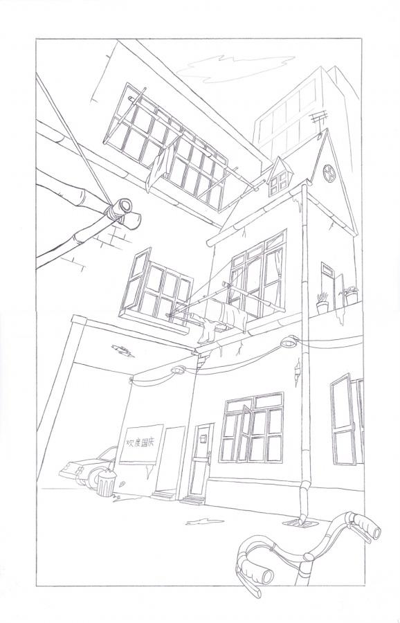 简单透视铅笔画|绘画习作|插画|wowmywinters