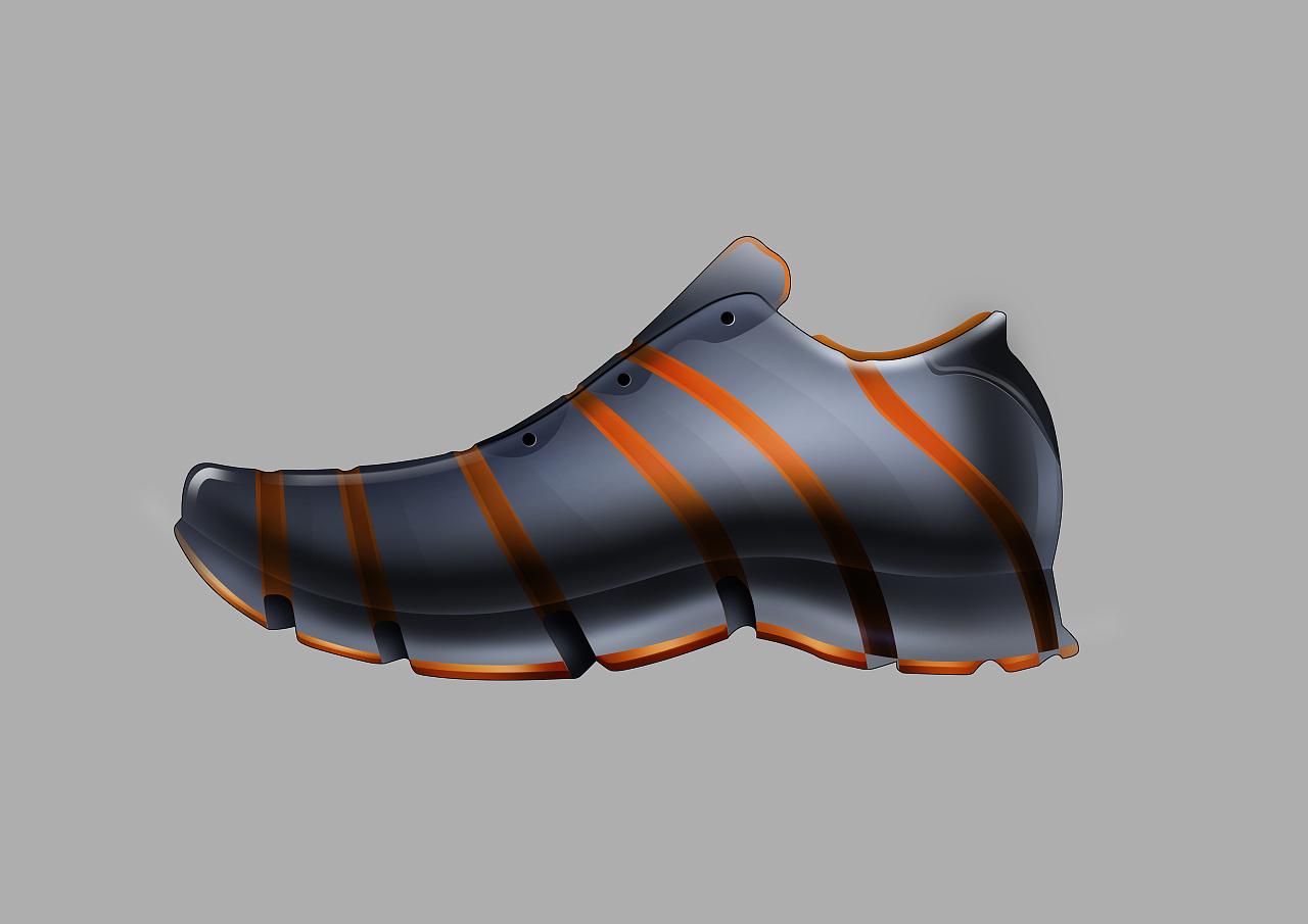 ps手绘风运动鞋制作分享