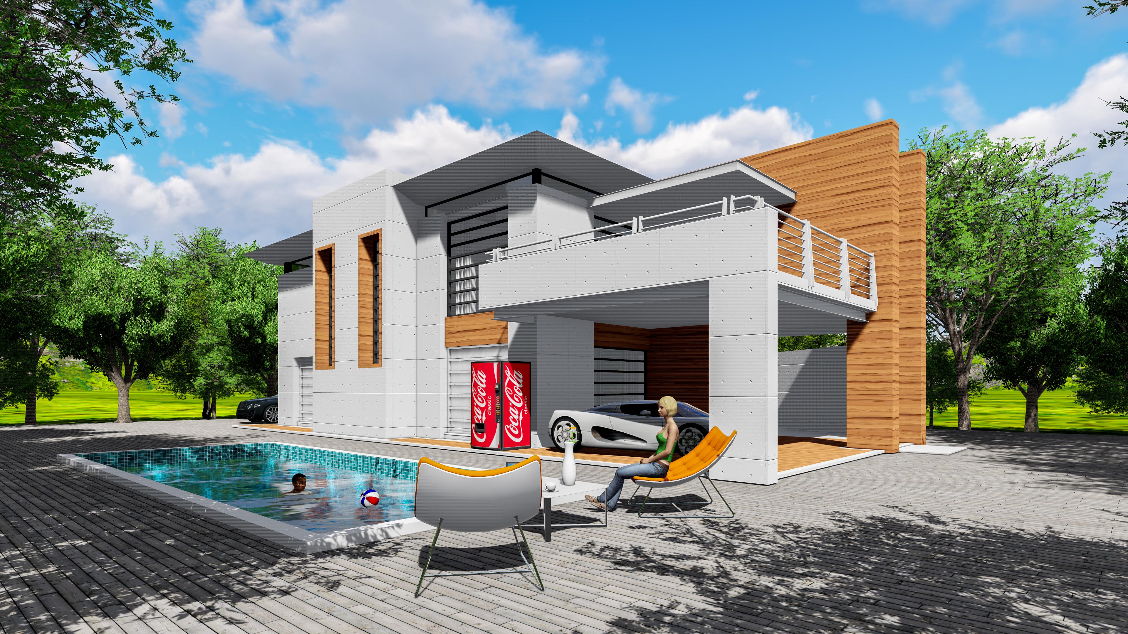 别墅建筑设计|空间|建筑设计|如梦幻寺 - 原创作品图片