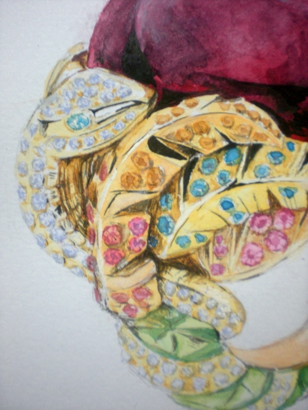 珠宝手绘色彩练习2|纯艺术|水粉|纤阳 - 原创作品