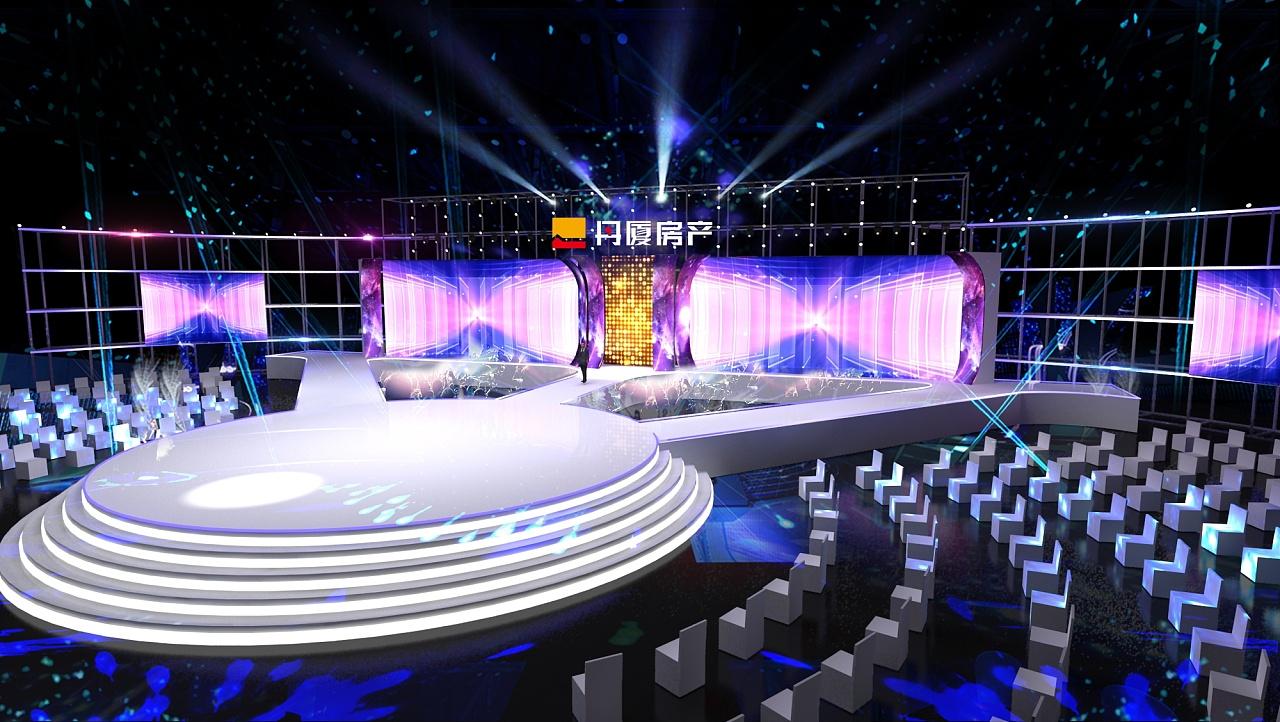 舞台灯光背景图片