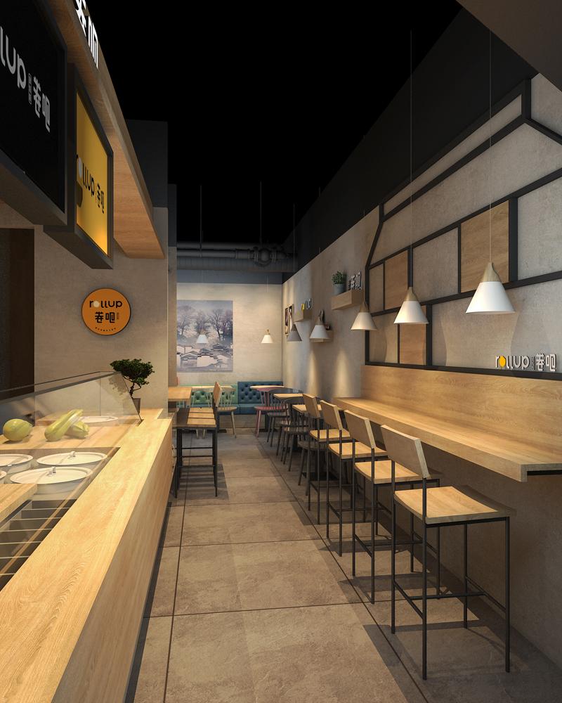 特色饮品小吃店设计-深圳卷吧|室内设计|快剪店装修图片设计图片