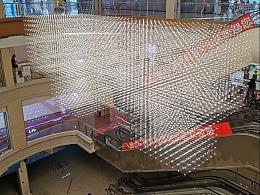 铭星光立方吊灯定制 沙盘吊灯效果图 规划沙盘模型灯光