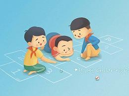 【苏宁易购卡】儿童节&父亲节卡面插画