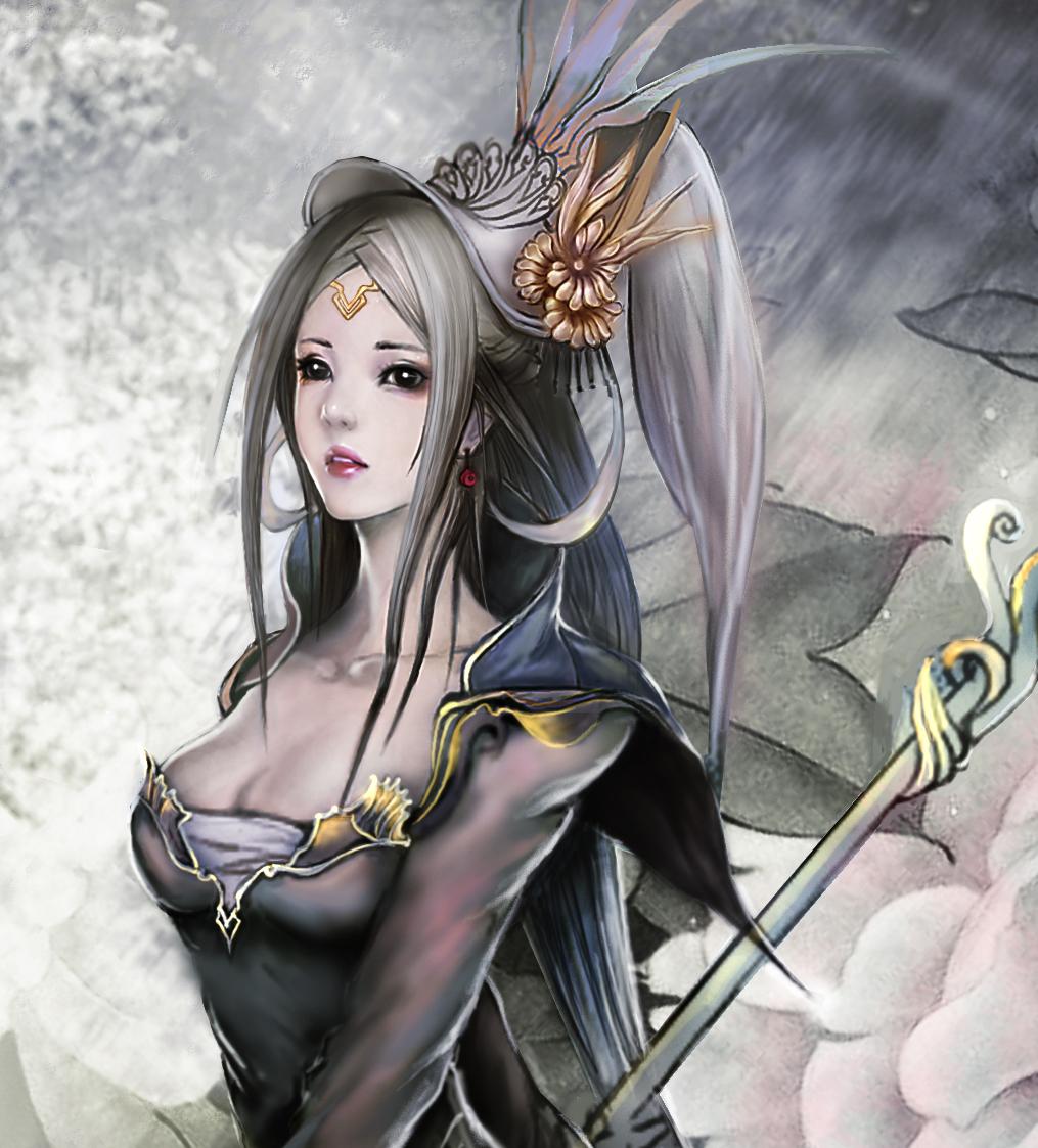 ps手绘温婉美女--临摹|插画|商业插画|小菜女 - 原创