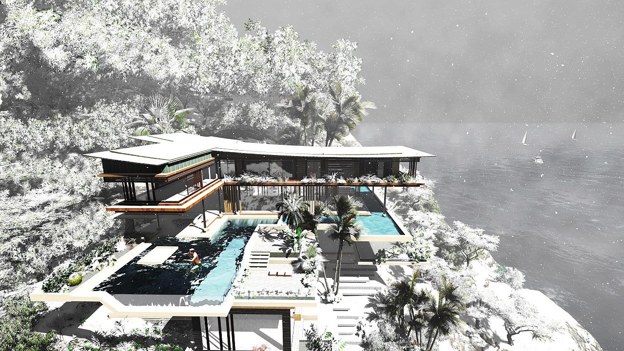 建筑设计—海岛别墅