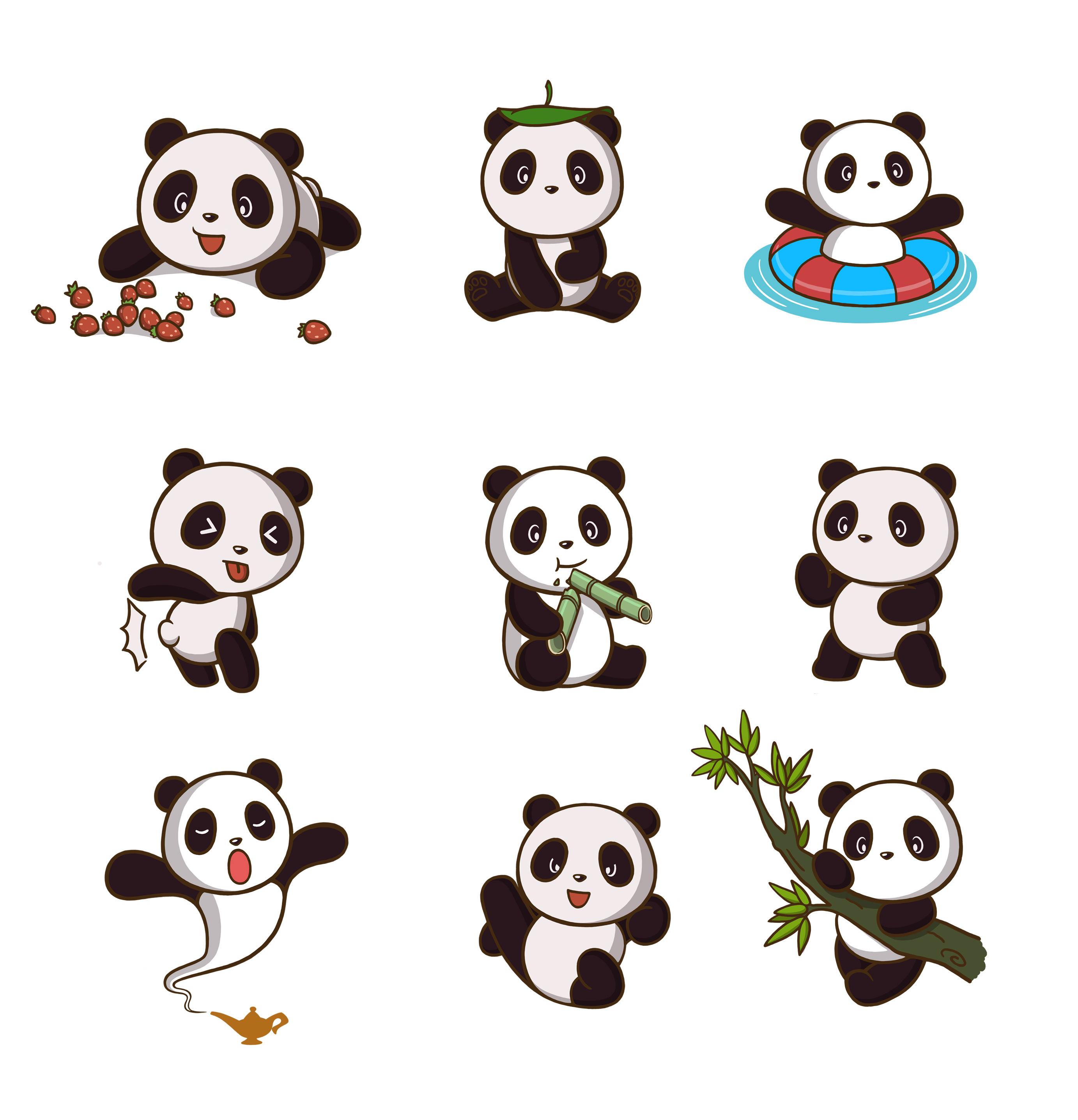 卡通熊猫形象 欢迎约稿,qq:3088231502图片