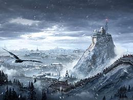 雪都 场景概念设计