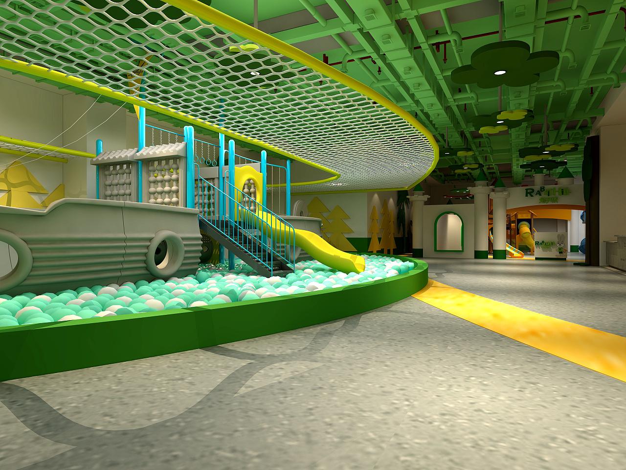室内儿童游乐场~|空间|室内设计|张丽天斐效果图图片