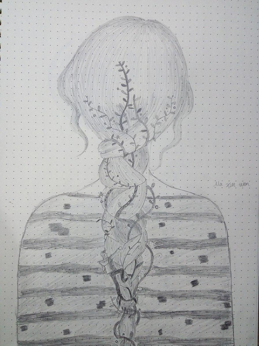 诗人背影简笔画手绘