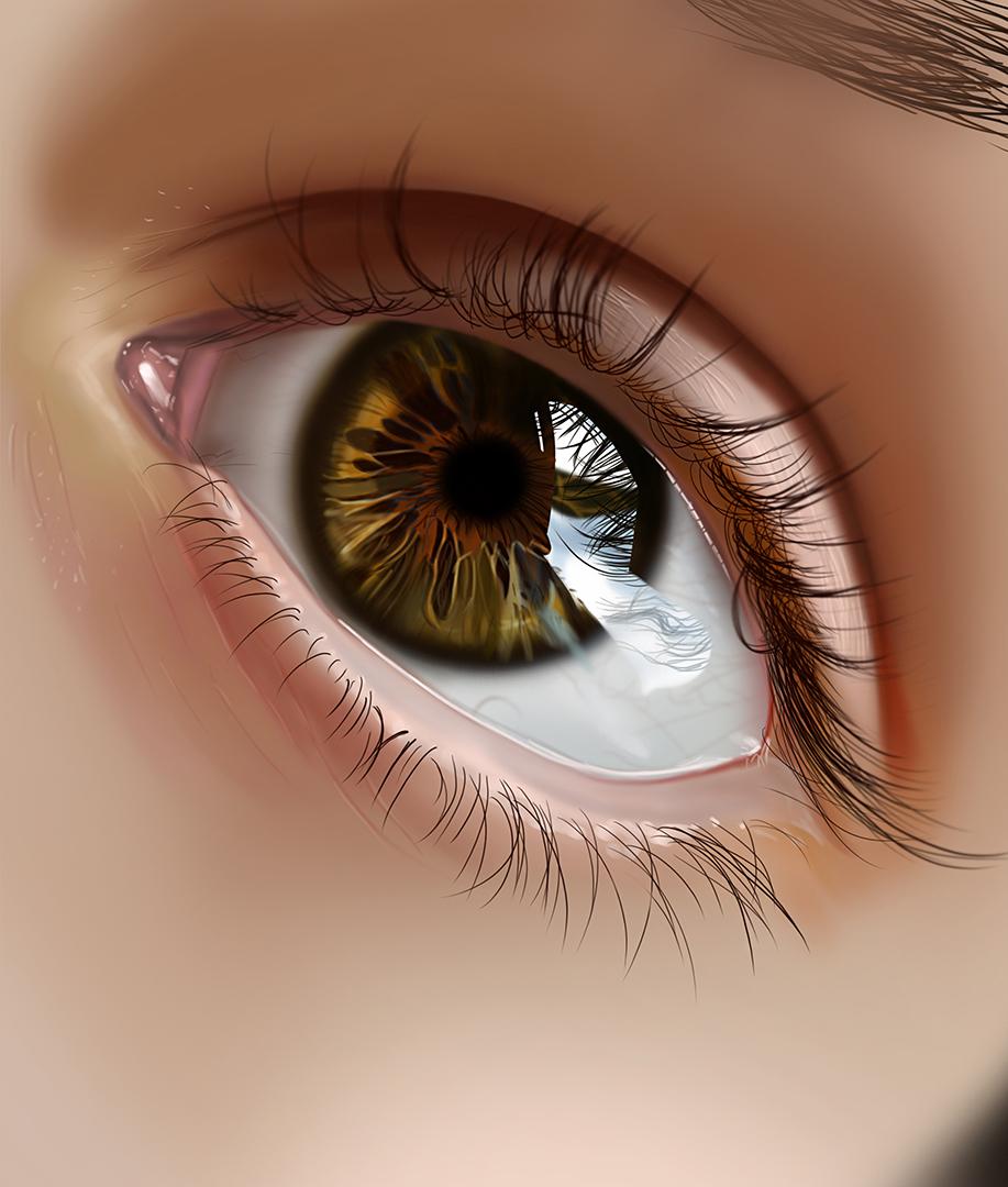眼睛图片大全手绘