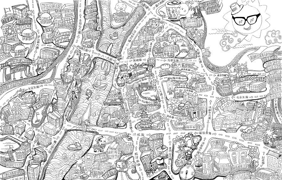 原创作品:南昌手绘地图