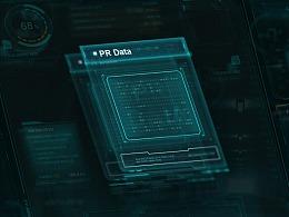科技风 大数据 可视化大屏界面