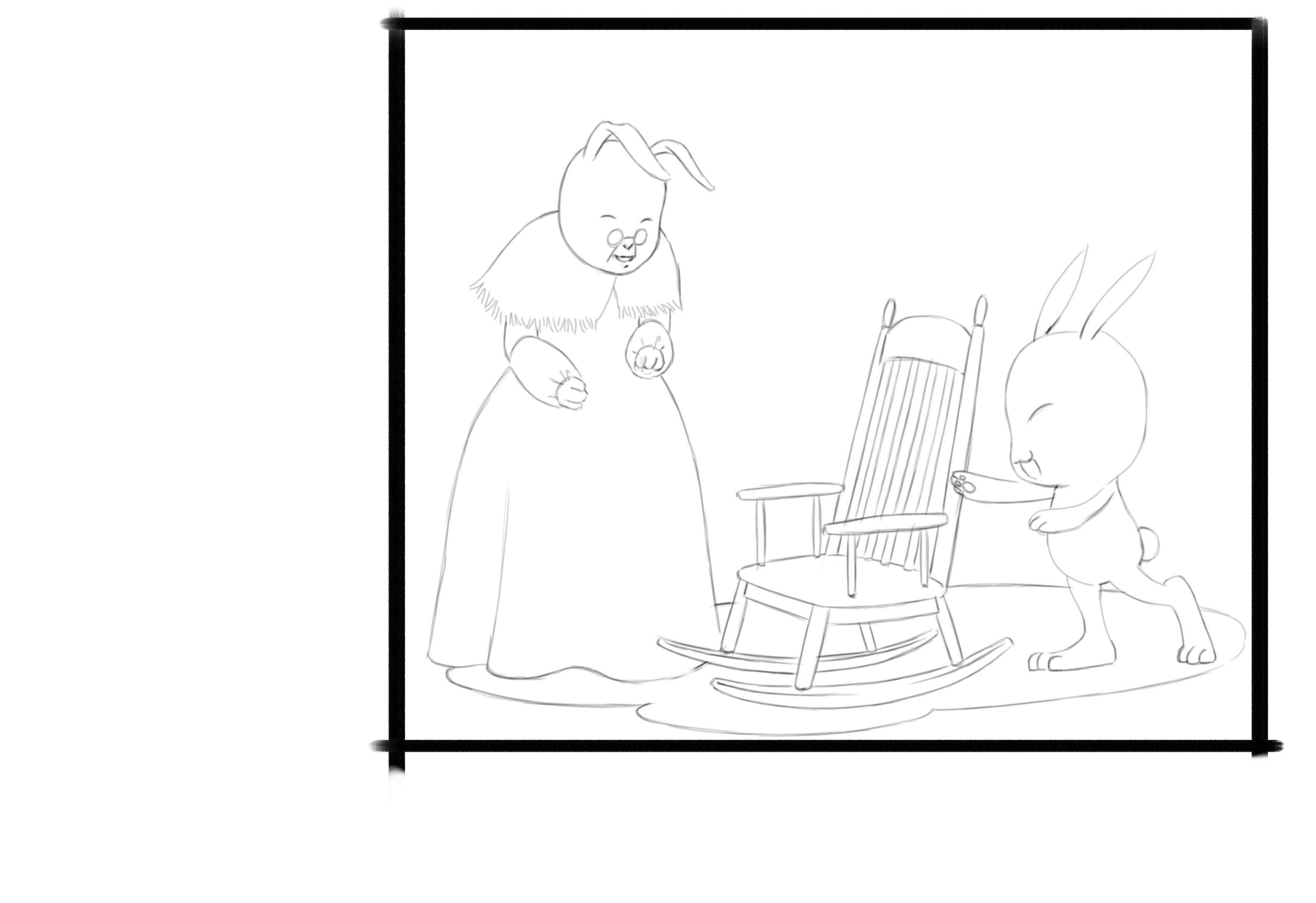 白兔奶奶的摇椅