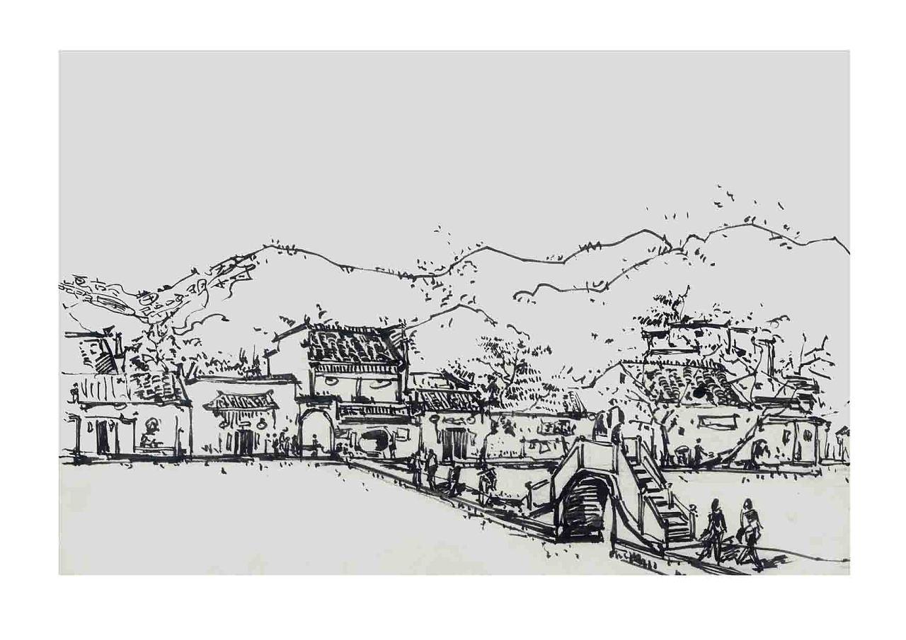宏村手绘图片简绘