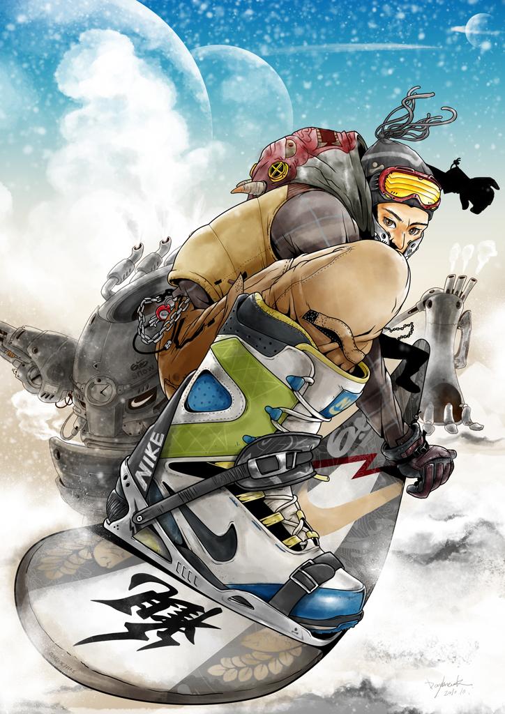 nike专业滑雪系列插画