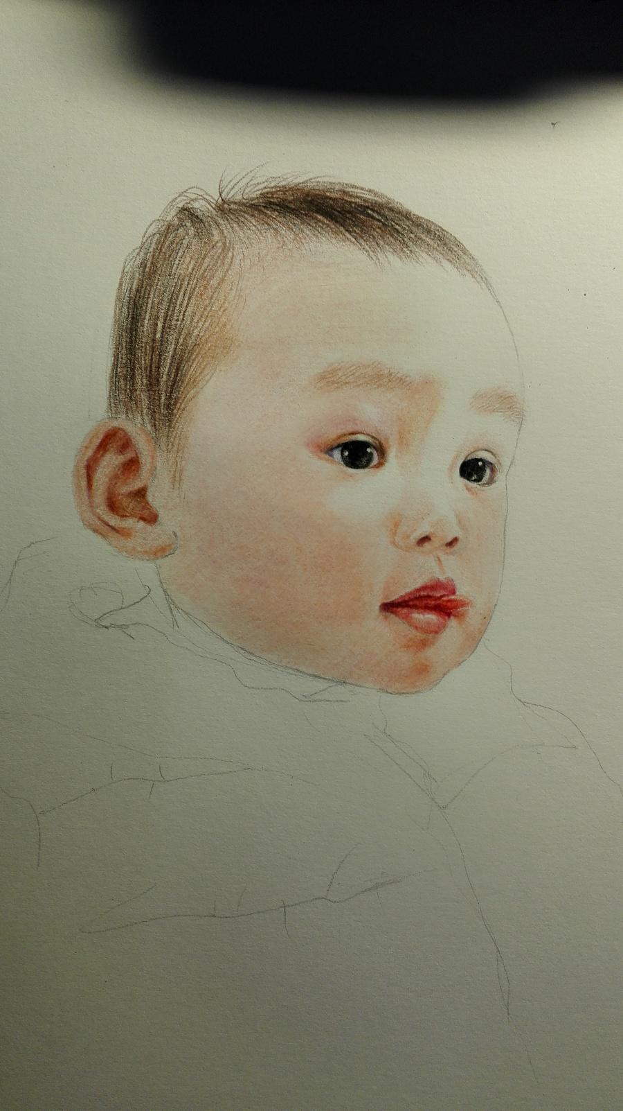 彩铅手绘习作.|彩铅|纯艺术|寒塘鹤影啦啦