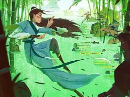 武林外传手游-国风概念插画海报