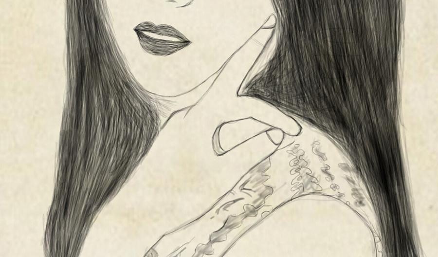 手绘板绘画人像练习|绘画习作|插画|大鹏daniel