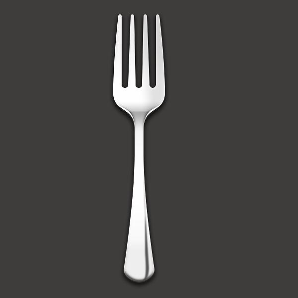 叉子的简笔画侧面