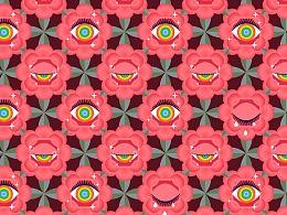 面料设计-新卫衣坑-彩虹眼睛