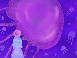 插画-水母 |《幻曲 | 水母世界》