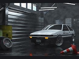 AE86原创壁纸渲染