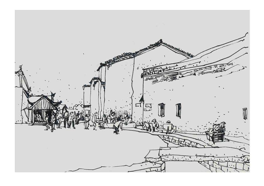 西递速写_《速写——宏村、西递》2008年黄山写生作品 商业插画 插画 ...