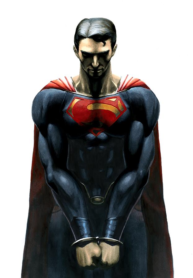马克笔手绘作品-《超人&蝙蝠侠》|商业插画|插画|白