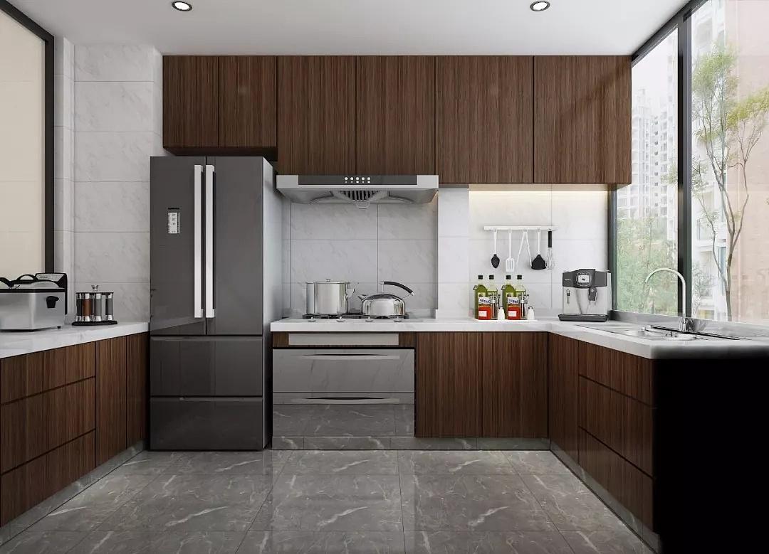 金沙湖高尔夫观邸98平现代港式风格风格三居室装修效果图---厨房