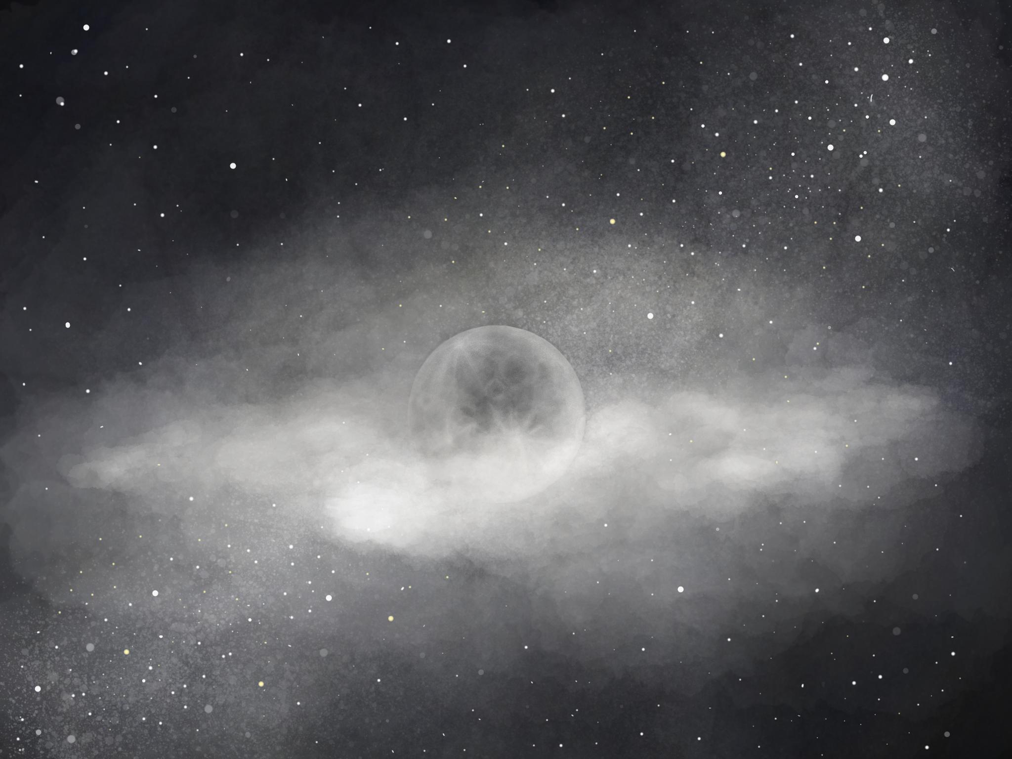 ipad pro手绘夜空壁纸图片