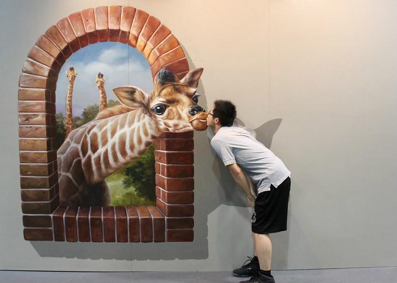 3d手绘壁画,彩绘艺术|展示/橱窗/店面设计|空间/建筑
