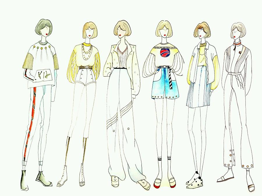 衣服漫画手绘图片