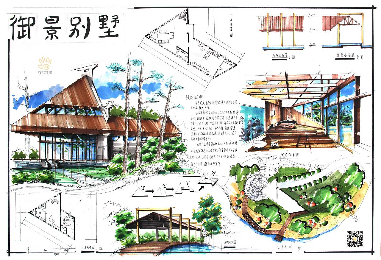 环艺景观风景园林设计手绘考研快题作品