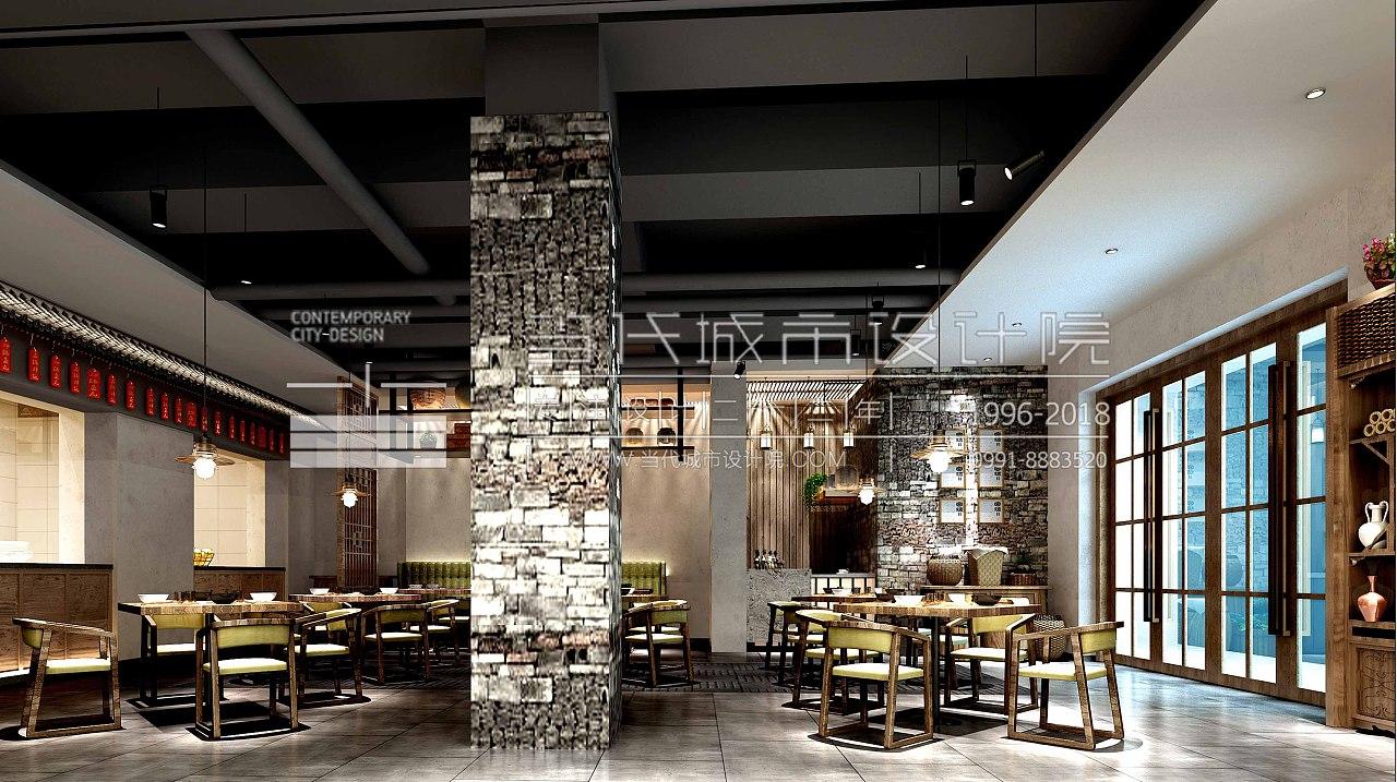当代城市设计院|甘肃人家餐饮空间设计在十字绣设计图图片