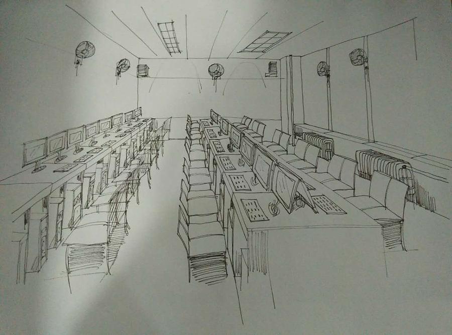 手绘——室内快速表现线条篇|插画习作|插画|suixin图片