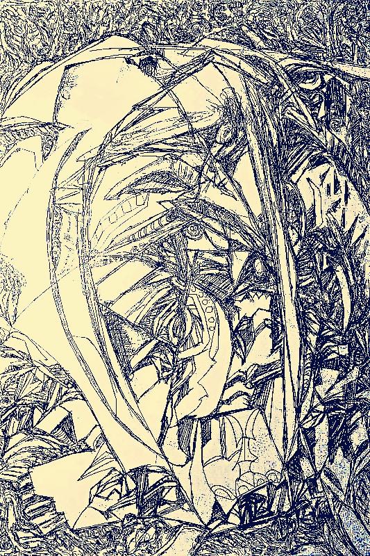 胡冠英抽象作品系列-异形星草稿|绘画习作|插画|兴龙