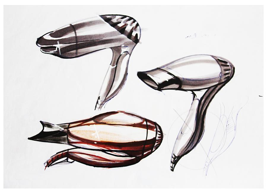 工业产品手绘吹风机|电子产品|工业/产品|xiaomo