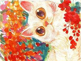 最近的寫意國畫貓咪