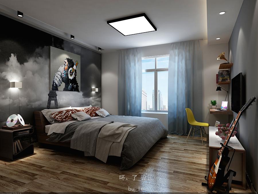 个性现代简约房间 室内设计 空间 bu_le - 原创设计图片