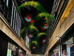 跨街灯造型图案素材由铭星工厂定制商业空间高空吊饰