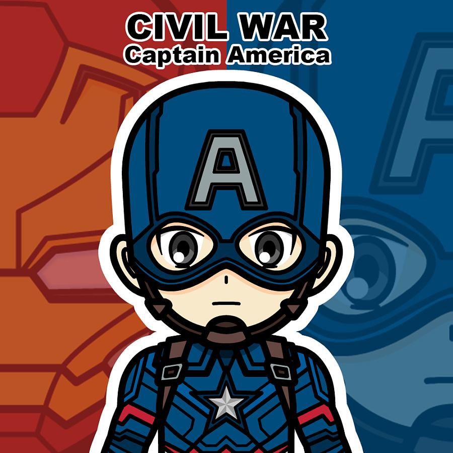 美国队长:内战 卡通人物