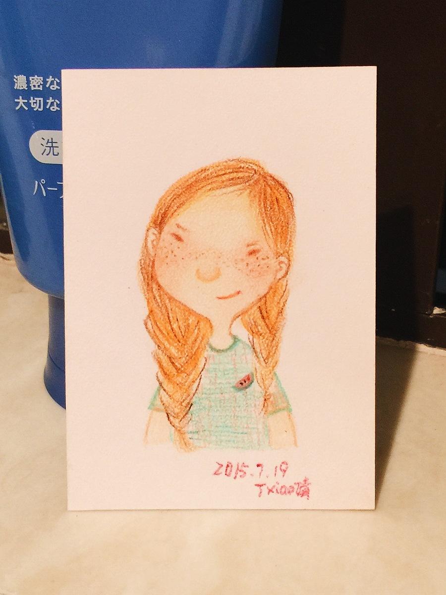 手绘彩铅小人物系列插画44|商业插画|插画|丁小婧