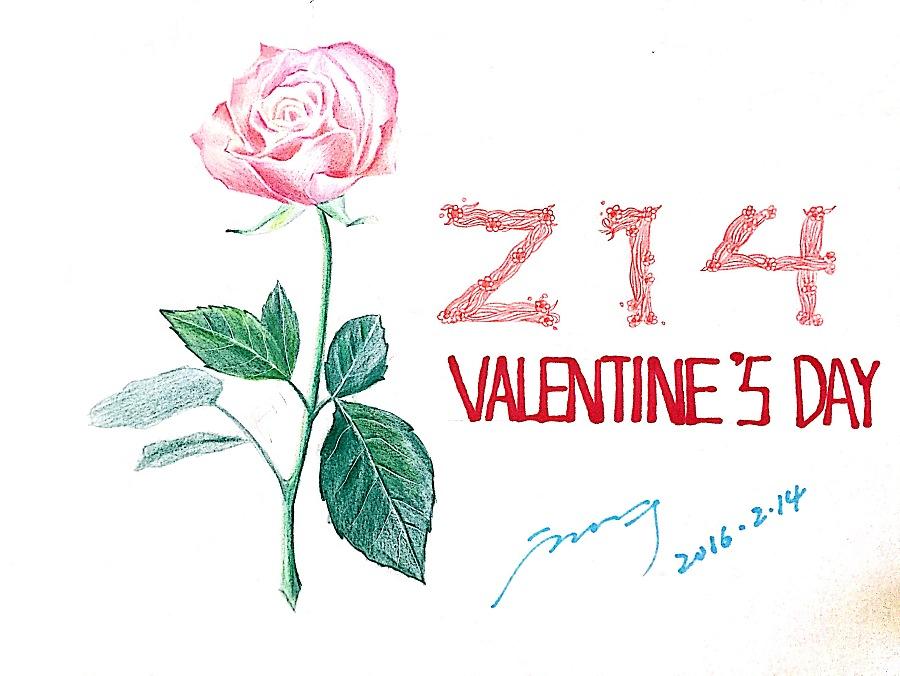 情人节手绘玫瑰|绘画习作|插画|summmmmer