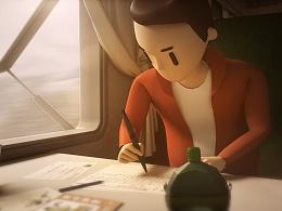 湖南卫视《儿行千里》节目片头动画